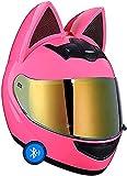 TYYCKJ Casco Bluetooth Completa Casco De Moto Visera Abatible Lente Dual con Doble Visera Dot Cool Casco De Motocicleta Cascos De Motocicleta Modulares De Cara con Certificado Dot/ECE