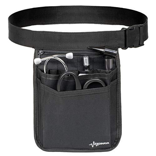 Medical Organizer Belt for Nurses - Multi-Compartment Nurse Fanny Pack Organizer Utility Medical Gear Hip Bag. Medical Care Kit Utility Waist Pack (Black)