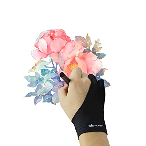 HUION Artist Glove Drawing Gloves for Graphic Drawing Tablet Light Box Tracing Light Pad -Free Size Smudges Prevents