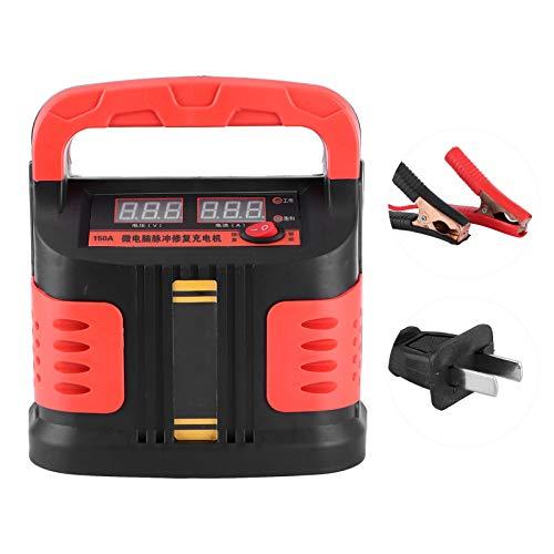 Fydun Cargador de batería de coche 12V-24V 40-200AH Reparación inteligente de pulso de emergencia 180-260V Arrancador de arranque Cargador de coche Mantenedor