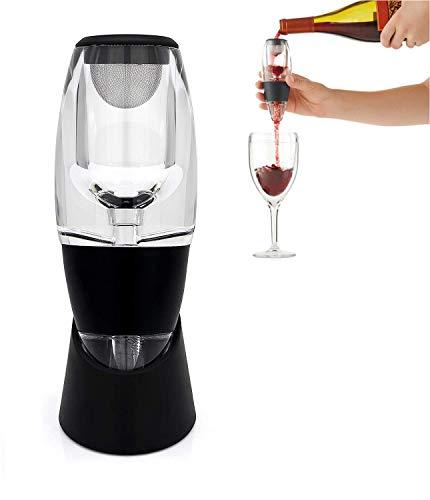 Decanter per Aeratore per Vino con Accessori per Vino di Base e Set da Regalo, Aeratori per Vino per Compleanno, Amicizia, Regalo per Vino, Uso Domestico e Festa