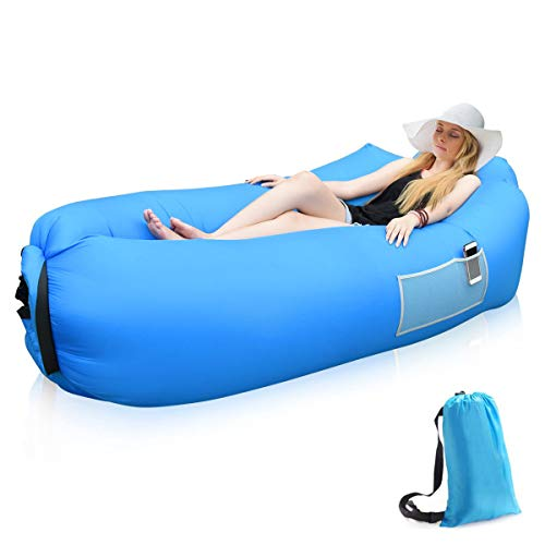Siphly Sofa Hinchable con Almohada integrada y Bolsa, Sofa Inflable, portátil Impermeable...