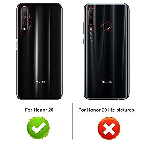 iBetter für Honor 20 Hülle, für Huawei Nova 5T Hülle, Ultra Thin Tasche Cover Silikon Handyhülle Stoßfest Case Schutzhülle Shock Absorption Backcover Hüllen passt für Honor 20 Smartphone (Schwarz) - 2