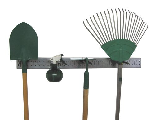Metal Pegboard Strip Garden Tool Organizer Pegboard Rail Kit