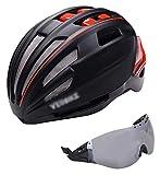 TYUIOO Casco de motocicleta Casco de ciclo de ciclo con cara completo con visera de gafas magnéticas desmontables para mujeres, hombres, ciclismo, montaña, cascos de bicicleta, protección de seguridad