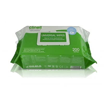 Clinell EA560 Universal Sanitising Wipe (Pack of 200) by Clinell