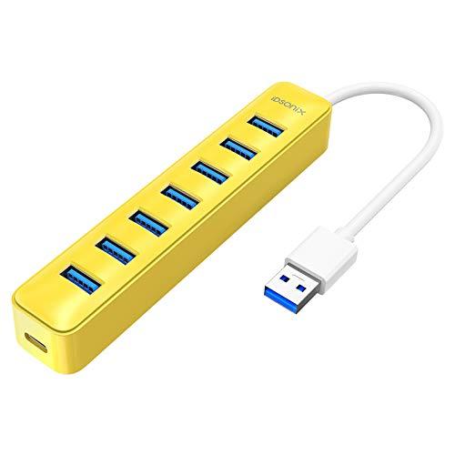 iDsonix Powered USB hub, 7-Port USB 3.0 hub, 15W,5Gbps HighSpeed Data...