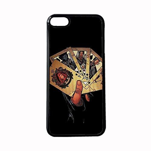 Estuche De Plástico Duro Compatible con iPhone 6 6S 4.7Inch Diseño Comics para Hombre Diferencia