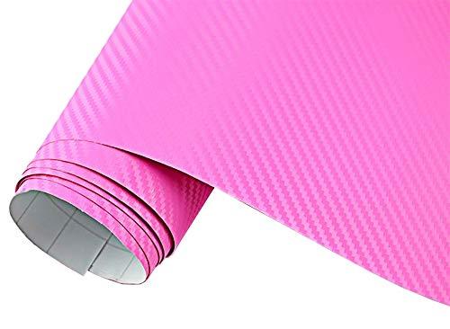 Neoxxim 24,22€/m2 Premium- Auto Folie - 3D Carbon Folie - PINK 30 x 150 cm - blasenfrei mit Luftkanälen ca. 0,16mm dick