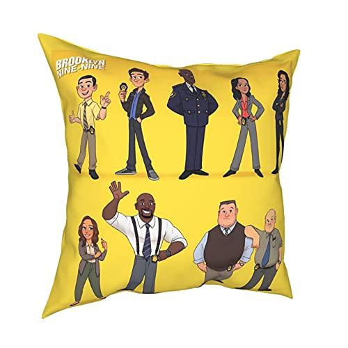 Fundas de almohada para niños, diseño de Michael Hitchcock de la serie de televisión, temporada 1-7, Gina Linetti Brook-Lyn, 99, con estampado 3D, antideslizante, 50,8 x 50,8 cm