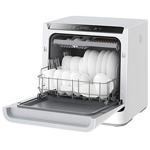 PIGE Lavavajillas Inteligente Escritorio hogar desinfección automática y Secado Mini máquina lavavajillas-6 Modos de Lavado, Limpieza después de 75 ℃
