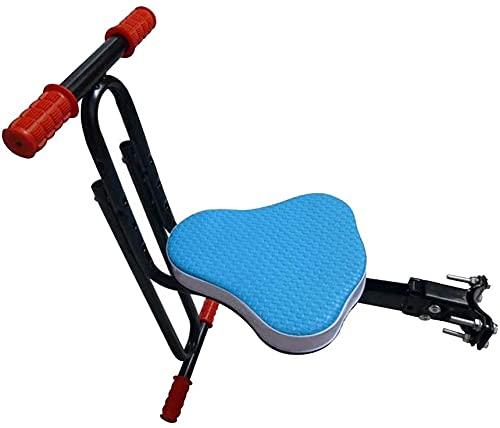 X&Y Asiento de Bicicleta para niños de Montaje Frontal Seguro, niños Sillín eléctrico Bicicleta de Bicicleta eléctrica para niños Asiento Delantero Asiento Delantero Cojín de Silla (Color : Blue)