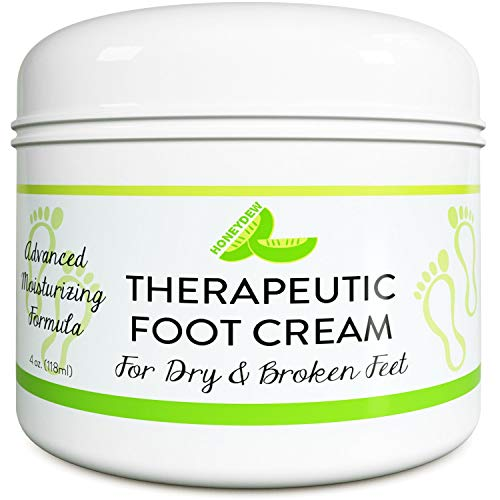 Shea Butter Moisturizing Foot Cream for Dry and Cracked Feet – Foot Care Lotion for Cracked Heels...