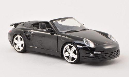 Porsche 911 Turbo Cabriolet (997), schwarz , Modellauto, Fertigmodell, Motormax 1:24