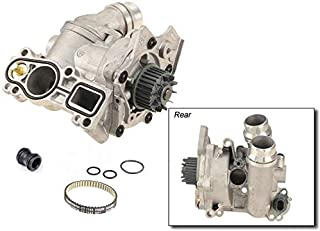 Aluminum Water Pump + Sensor + Cooler Union + Belt for VW Jetta Passat CC Eos Tiguan A4 2.0T