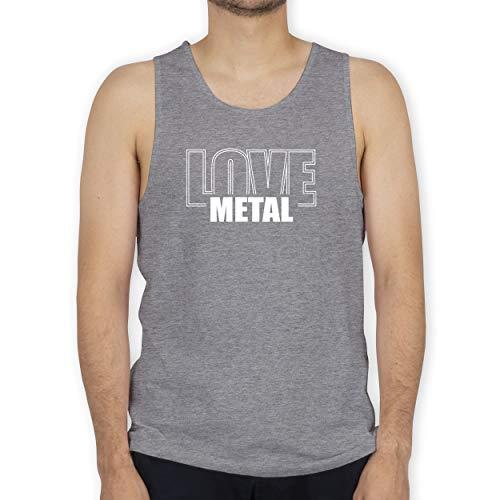 Shirtracer Festival - Love Metal - XL - Grau meliert - Party - BCTM072 - Tanktop Herren und Tank-Top Männer