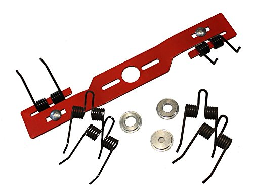Kraftharke Quattro 40 cm für Rasenmäher Entmooser Rasenlüfter Blade Vertikutierer Umbausatz + 2 x Ersatz Federn