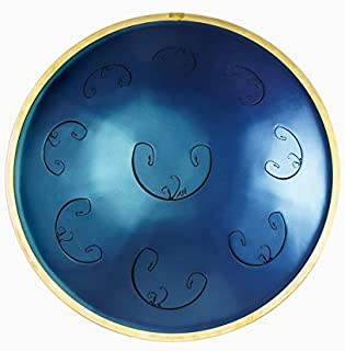 RAV Vast 2 B Celtic Double Ding - Metal Handpan Drum - 10 Notes Steel Hand Drum - Hang Drum with Soft Case and Three Mallets - 20 inches