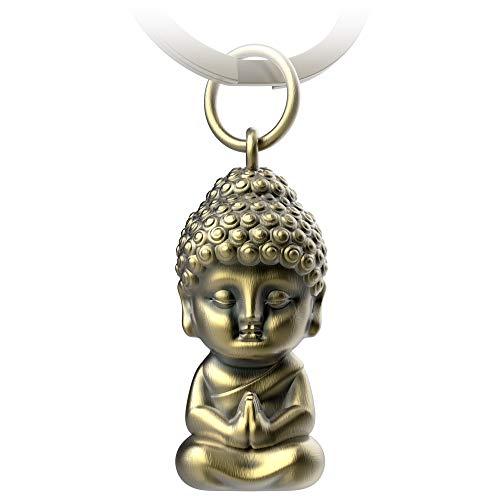 FABACH Buddha Schlüsselanhänger Karma - Buddha Anhänger aus Metall - Mini-Buddha Glücksbringer Auto - Buddhismus Schlüsselanhänger Chakra Yoga Geschenk Figur