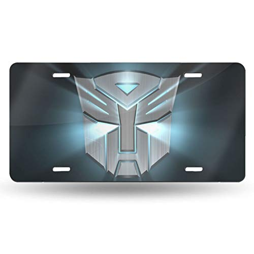 """T-Ransformers Car License Plate Holder 6"""" X 12"""" Inch License Plate Cover Aluminum Flat Hole with Screws Accessories"""