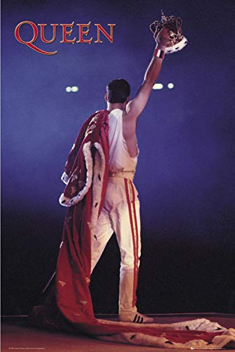 Close Up Póster Queen - Freddie's Crown/Corona (61cm x 91,5cm) + 1 póster Sorpresa de Regalo