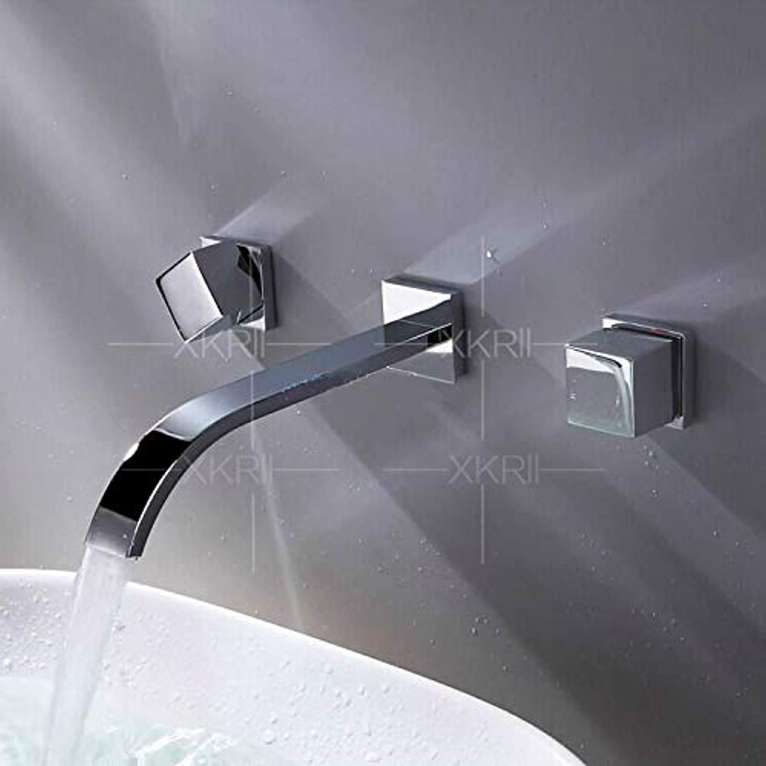 redOOY Taps ?Wall-Mounted Concealed Basin Three-Piece Faucet Split-Type One-Piece Basin Faucet