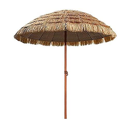 Paraguas Hawaiano Tiki, Sombrillas Redondas con Función De Inclinación Sombrilla De Estilo Hawaiano Imitar Paja Paraguas De Patio Sombrillas for Jardín Balcón Terraza