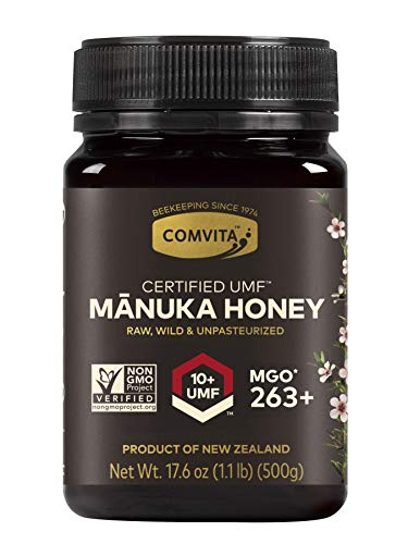 Comvita Certified UMF 10+ (MGO 263+) Raw Manuka Honey I New Zealand's #1 Manuka Brand I Authentic, Wild, Unpasteurized, Non-GMO Superfood I Premium Grade I 17.6 Ounce