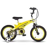 DHMKL 12/14/16 Pulgadas Bici Infantiles,Bicicleta MontañA NiñOs/con Ruedas Auxiliares/DireccióN con LíMite 120°/Timbre Coche Inteligente/Asa Asiento Ajustable/Apta NiñOs 2 A 8 AñOs