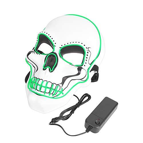 QiruIXinXi Máscara de Halloween, payaso divertida máscara brillante traviesa, para una variedad de formas faciales, perfecta para mascaradas de miedo máscara (verde)