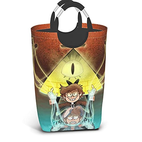 Bill Cipher Gravity Falls Anime Cesto de lavandería de dibujos animados Cesto...
