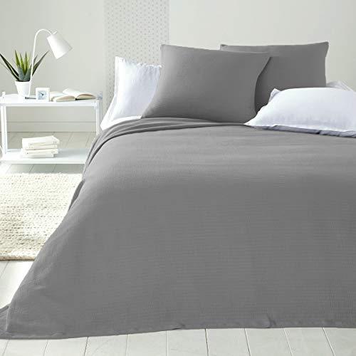 B&B - Colcha de algodón para cama de matrimonio, no necesita planchado, para cama de una plaza y media, artesanal, primavera, verano, tela decorativa multiusos