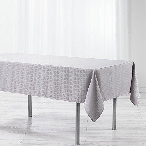 douceur d'intérieur nappe rectangle 140x300cm maillon gris