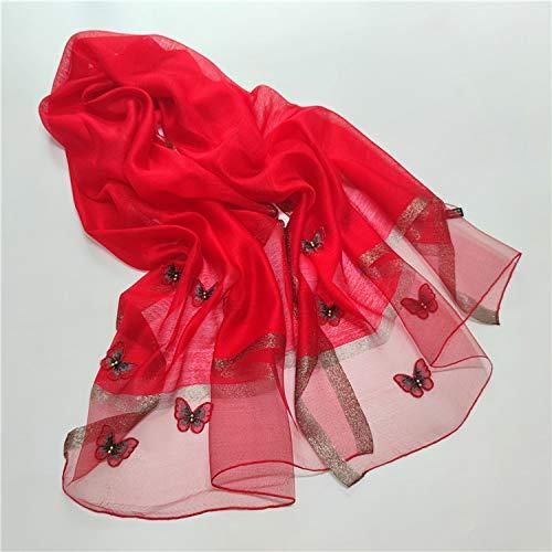 yui Schal Set 2020 Luxus-Marke Seide Wolle Schal Frauen Foulard Schmetterling Bandana Poncho Pashmina Tücher und Wraps Bufanda Decke Schals Haar Schal (Farbe: siehe Tabelle 2)