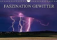 Faszination Gewitter (Wandkalender 2022 DIN A4 quer): Dunkle Gewitterwolken in beeindruckenden Formationen, zackige Blitze - Schoenheit und Gefahr liegen hier dicht nebeneinander. Lassen Sie sich faszinieren von imposanten Gewitterfotografien aus Sueddeutschland. (Monatskalender, 14 Seiten )