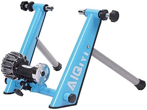 Lanrui Rullo Blu Pieghevole Fluid Trainer Bike Basamento d'Acciaio Indoor Trainer Noise Reduction Resistenza progressiva for Strada Mountain Bikes Turbo Bici Corsa