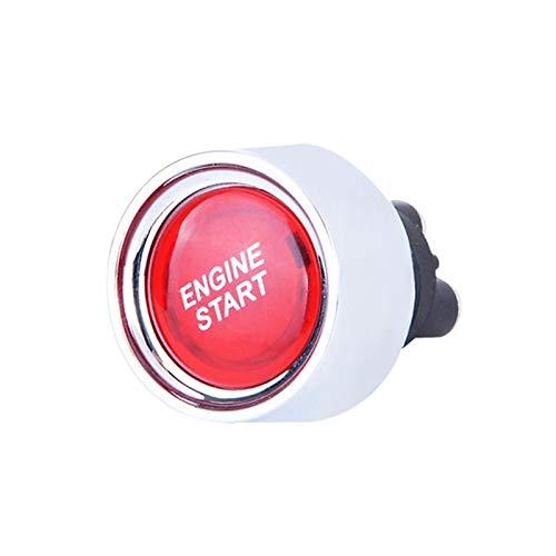 GCS Gcsheng Hot 12V 50a Motor de Motor Inicio botón pulsador sin Llave de Inicio Botón de Encendido Arrancador de Coche Botón de Inicio de automóviles Auto Accesorios 2021 (Color : Red)