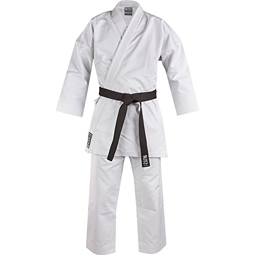 Blitz White Diamond Kimono de Karate, Color Blanco, Unisex, Color Blanco, tamaño 5,5-185 cm