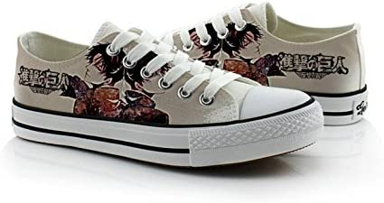 Telacos Attack on Titan Shingeki No Kyojin Cosplay Shoes Canvas Shoes Sneakers 4 Choices