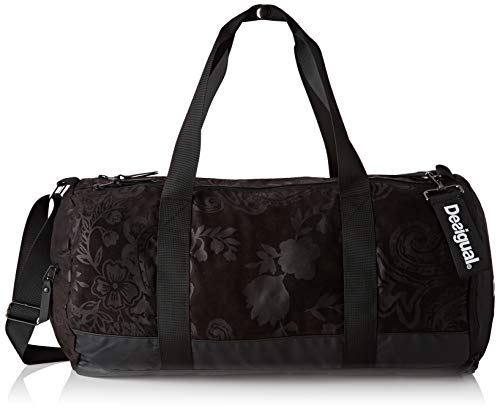 Desigual dames Tubular Sport Bag Ethnic schoudertas, zwart (Negro), 26x48x22 cm
