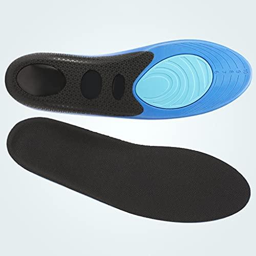 YFQHDD Plantillas Deportivas absorción de Impactos para Hombres absorción de Impactos colchón de Aire absorción del Sudor Alta Elasticidad Plantilla de Zapatilla de Baloncesto Gruesa cómoda