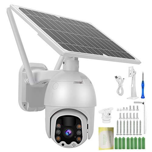 Jeanoko Cámara inalámbrica WiFi de visión Nocturna con intercomunicador bidireccional para Sistema de Monitor de Seguridad al Aire Libre