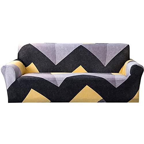 WXQY Funda de sofá para Sala de Estar, patrón de Hojas Blancas Resistente al Desgaste, Funda de sofá Antideslizante Impresa, Funda de sofá A3 2 plazas