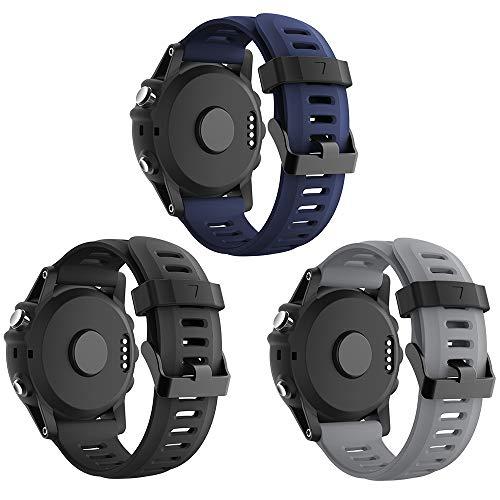 Supore Fenix 3/Fenix 5X/Fenix 6X Sportuhr Armband Silikon Sportarmband Uhr Armband Ersatzarmband mit Werkzeug für Garmin Fenix 3 / Fenix 3 HR GPS Smartuhr