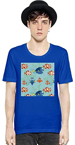 Movie Stars Merchandise Finding Nemo Men Short Sleeve T-Shirt tee Shirt Stylish Fashion Fit Custom Apparel by Small