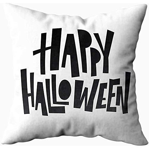 July kussenslopen, Happy Halloween belettering vakantie kalligrafie banner poster wenskaart party uitnodiging