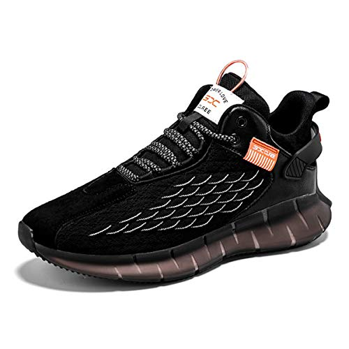WYSBAOSHU Men's Sneakers, Walking, Jogging, Running Shoes, Breathable, Outdoor, No Fatigue, 9.6 - 11.0 inches (24.5 - 28.0 cm) - black