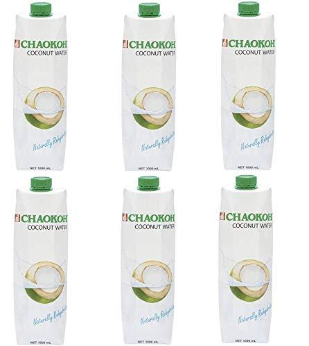 6x 1 Liter Kokosnusswasser SPARPACK 100% Kokoswasser 100% Natur Kokossaft coconut water vegan Thailand