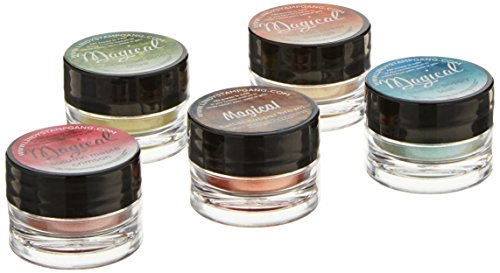 Lindy's Stamp Gang Magical Jar Set, 0.25-Ounce, Autumn Leaves, 5 Per Package