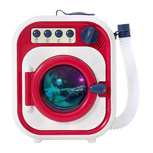 Hoicenja Lavadora electrónica de Juguete para niños, Mini Lavadora eléctrica multifunción, Juego de simulación, Juguete Preescolar para niños, Regalos para niñas